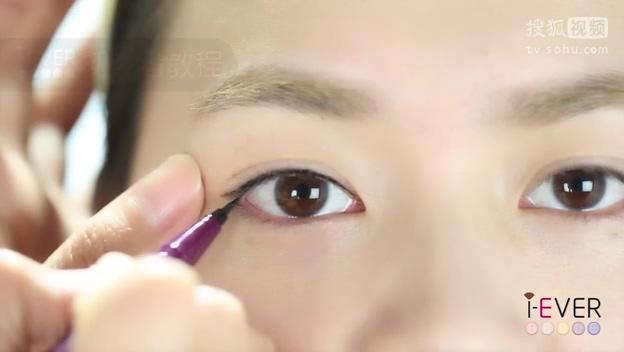 mu00114-双眼皮眼线液自然眼线画法