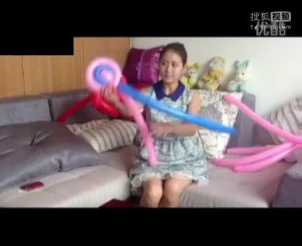 气球玫瑰花教程 魔术气球造型教程