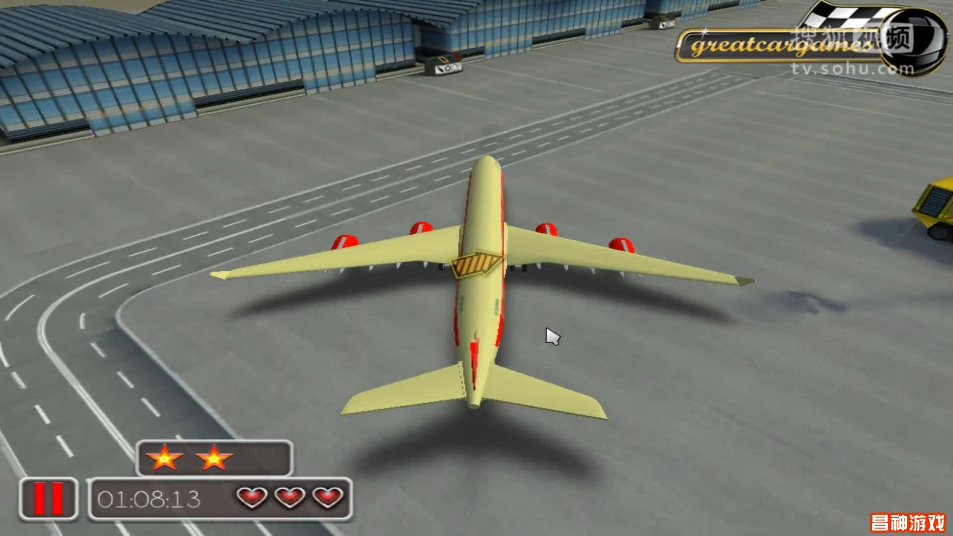 3d飞机模拟停靠 飞机视频