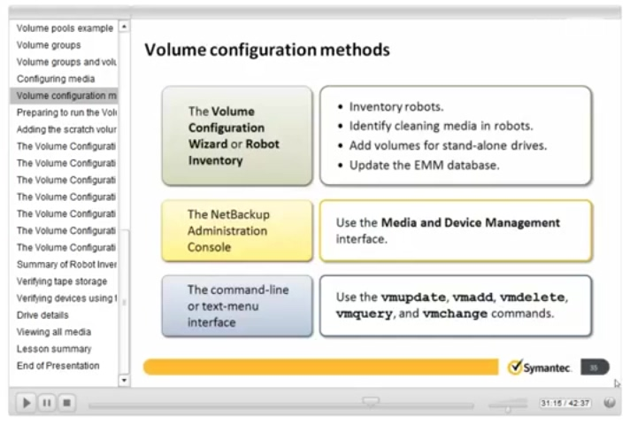 Symantec NetBackup 7.5 Install, configure and Deploy 07 Configuring Tape Storage and Media